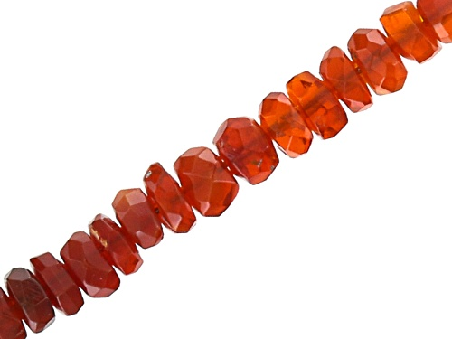 Photo of Fire Opal Appx 3-3.5mm Faceted Rondelle Bead Strand Appx 18""