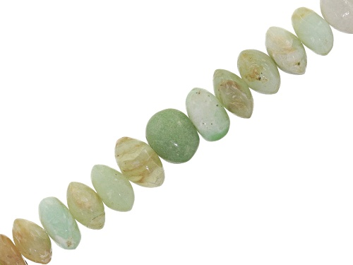 Photo of Peruvian Green Opal appx 5x8mm rondelle bead strand appx 14-15""