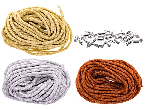 Photo of Climbing Rope 5mm Metallic Collection 30 Meters Total With Silver Tone End Caps