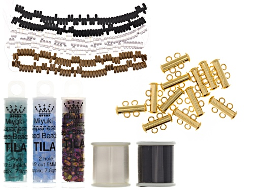 Photo of Glass Seed Bead Loom Moon Doggie Project Kit Includes 3 Colorways, Morning Song, Sunset, Midnight