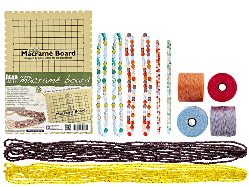 Photo of Macrame Supply Kit In Lavender Garden & Melonberry
