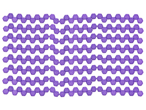 Photo of Honeycomb 6mm Glass Beads In Laser Silk Violet Web  Appx 240 Beads