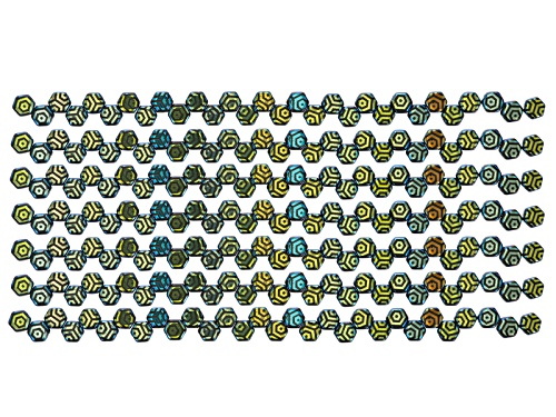 Photo of Honeycomb 6mm Glass Beads In Jet Color Laser Web Ab Appx 240 Beads