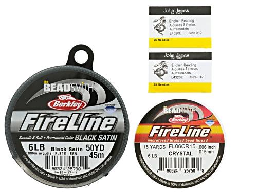 Photo of Fireline And Beading Needle Supply Kit