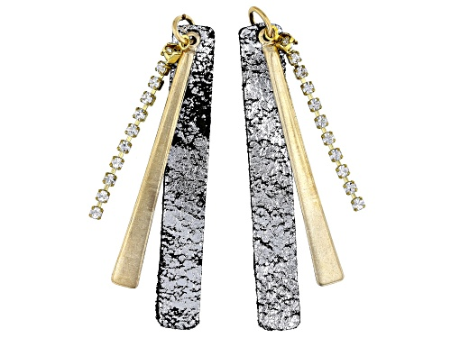 Photo of Vintaj Crystal Paddle Earring Component Set of 2 Designed by Candie Cooper