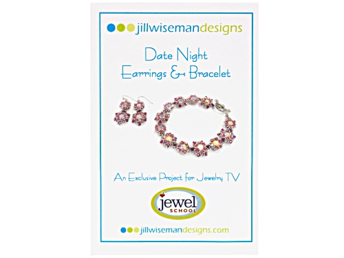 Photo of Jill Wiseman's Date Night Pink Earrings And Bracelet Kit With Instructions