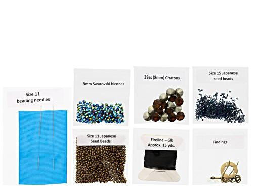 Photo of Date Night Earrings & Bracelet Supply Kit - Green & Brown Includes Tutorial