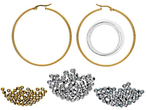 Photo of Beaded Hoop Earrings Supply And Project Kit With Instructions