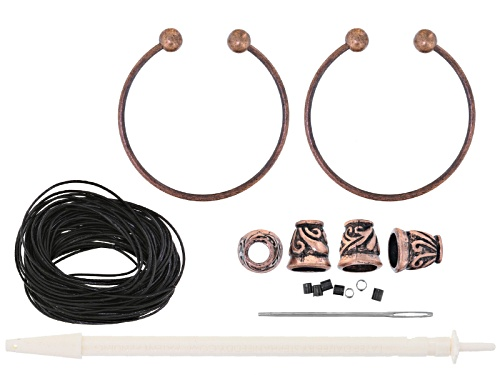 Photo of Double Up Viking Knit Bracelet Supply Kit With Leather, Makes 2 Bracelets