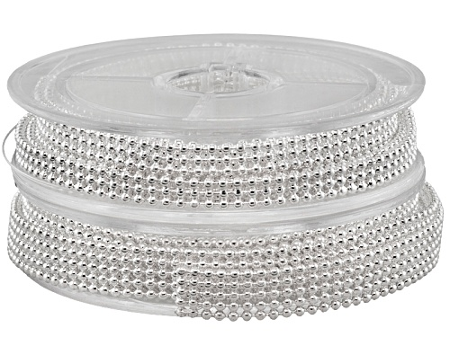 Photo of Ball Chain Kit In Silver Tone 1 Spool In 3 Ball Wide And 1 Spool In 5 Ball Wide 1 Meter Each Spool