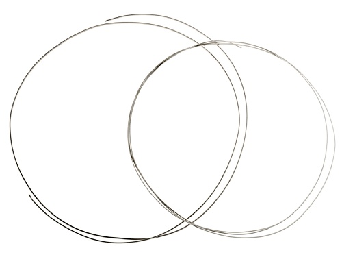 "Photo of 1/10 Silver Filled Half Round Wire Kit Includes 14 Gauge (36"") And 16 Gauge (48"")"