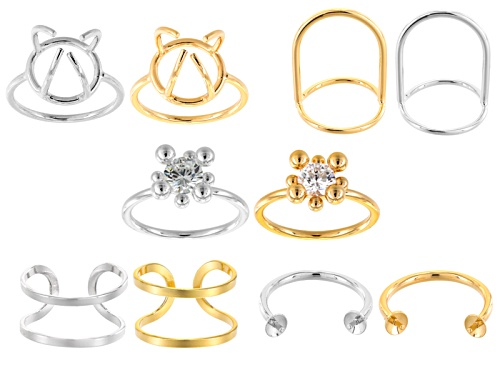 Photo of Ring Base Kit Of 10 Pieces In 5 Assorted Styles - 5 Gold Tone & 5 Silver Tone