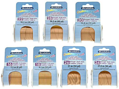 Photo of Colourcraft Coppertone Wire Kit total of 7 wires in assorted sizes