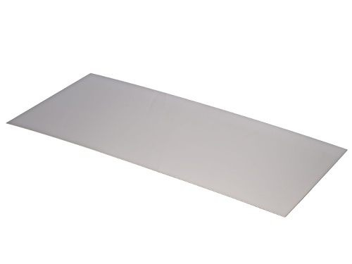 "Photo of 24 Gauge Nickel Silver Color Sheet 6"" X 12"" Sheet"