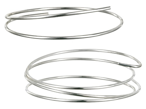 Photo of Argentium ® 14 Gauge Round Wire Kit Incl 1 Qty One Ft Piece And 1 Qty Two Ft Piece