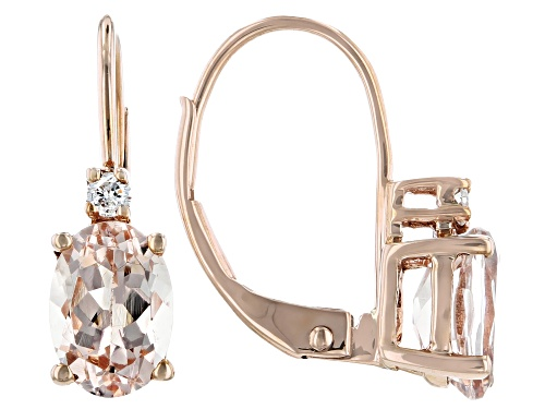 Photo of 1.30ctw Cor-de-Rosa Morganite™ With 0.04ctw Diamond Accent 10k Rose Gold Earrings