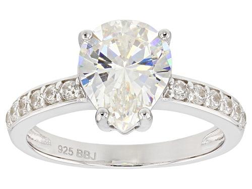 Photo of 3.03ct Fabulite Strontium Titanate with .34ctw white zircon rhodium over silver ring - Size 8