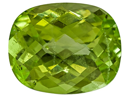 Photo of Pakistani Kashmir Peridot Min 4.25ct 11x9mm Rectangular Cushion Checkerboard Cut