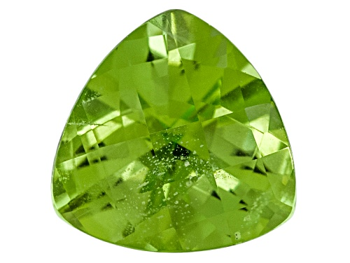 Photo of Pakistani Kashmir Peridot 3.96ct 10mm Trillion Checkerboard Cut