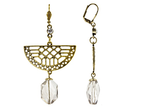 Photo of Katy Richards ™ Glass Bead Antiqued Gold Tone Dangle Earrings