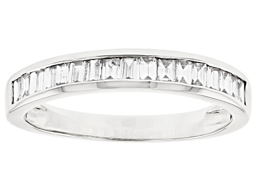 Photo of 0.70ctw Baguette White Lab-Grown Diamond 14k White Gold Band Ring - Size 7