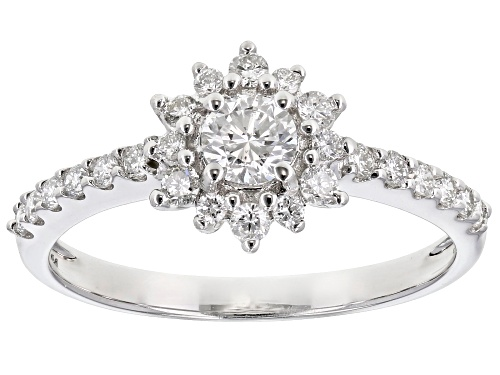 Photo of 0.55ctw Round White Lab-Grown Diamond 14k White Gold Engagement Ring - Size 7