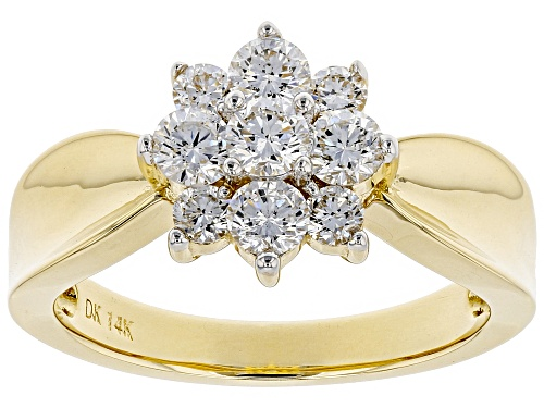 Photo of .86ctw Round White Lab-Grown Diamond 14K Yellow Gold Ring - Size 10