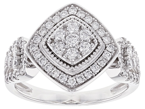 Photo of .80ctw Round White Lab-Grown Diamond 14K White Gold Ring - Size 10