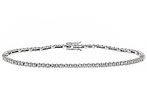 Photo of 1.02ctw Round White Lab-Grown Diamond 14K White Gold Bracelet - Size 7.25
