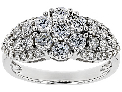 Photo of 1.31ctw Round White Lab-Grown Diamond 14K White Gold Ring - Size 8