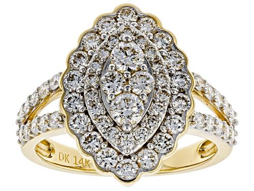 Photo of 1.47ctw Round White Lab-Grown Diamond 14K Yellow Gold Ring - Size 6