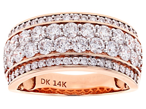 Photo of 1.62ctw Round White Lab-Grown Diamond 14K Rose Gold Ring - Size 7