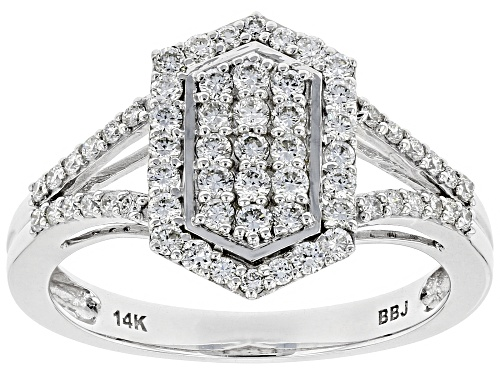 Photo of 0.56ctw Round White Lab-Grown Diamond 14K White Gold Cluster Ring - Size 10