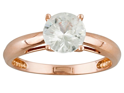 Photo of 1.92ct Round White Zircon 14k Rose Gold Solitaire Ring - Size 9
