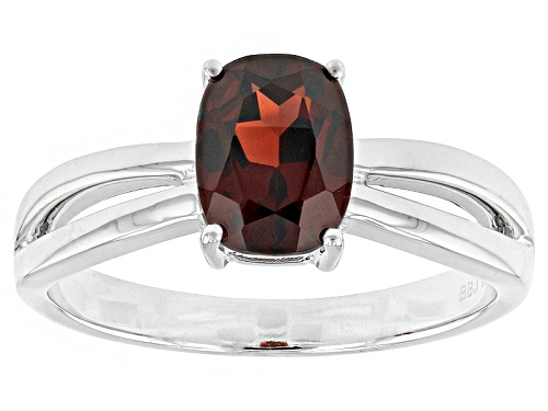 Photo of 1.66ct Rectangular Cushion Vermelho Garnet 14k White Gold Solitaire Ring - Size 8