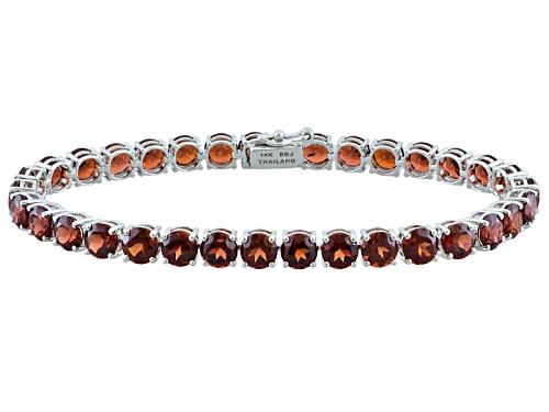 Photo of 17.67ctw Round Vermelho Garnet™ 14k White Gold Tennis Bracelet - Size 7.25