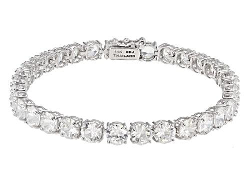 Photo of 16.93ctw Round White Zircon 14k White Gold Tennis Bracelet - Size 7.25