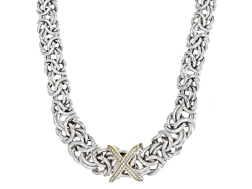 Photo of Bella Luce® .10ctw Rhodium & 18k Yellow Gold Over Silver Diamond Accent Necklace - Size 18
