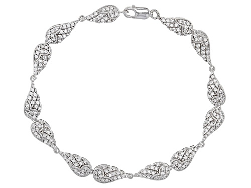 Photo of 3.30ctw Bella Luce ® Rhodium Over Sterling Silver Angel Wing Bracelet - Size 7.5