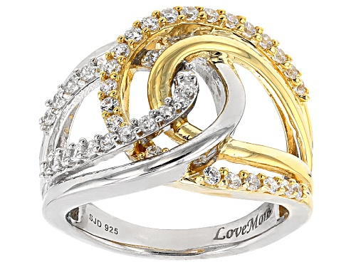 Photo of 1.23ctw Bella Luce ® Rhodium & 18k Yellow Gold Over Sterling Silver Ring - Size 6