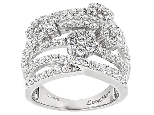 Photo of 4.25ctw Bella Luce ® Rhodium Over Sterling Silver Floral Ring - Size 5