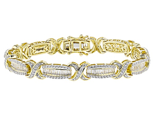 Photo of 9.89ctw Bella Luce ® 18k Yellow Gold Over Silver Bracelet - Size 7.5
