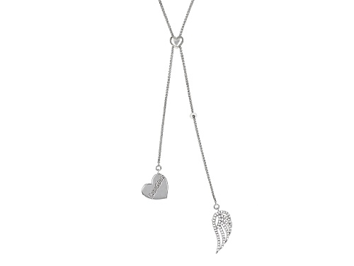 Photo of Lovemore By Lisa Mason ™ .95ctw Bella Luce ® Rhodium Over Sterling Silver Adjustable Necklace