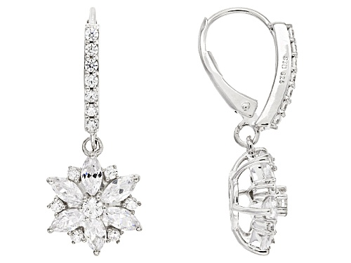 Photo of 3.69ctw Bella Luce ® Rhodium Over Sterling Silver Floral Earrings
