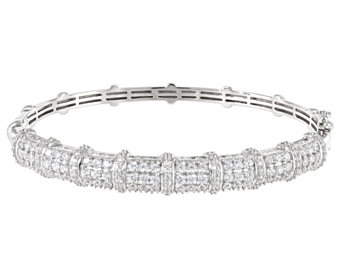 Photo of 6.65ctw Bella Luce ® Rhodium Over Sterling Silver Bracelet - Size 7.5