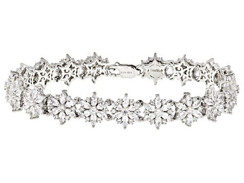 Photo of Bella Luce ® 17.19CTW Rhodium Over Sterling Silver Floral Bracelet - Size 8