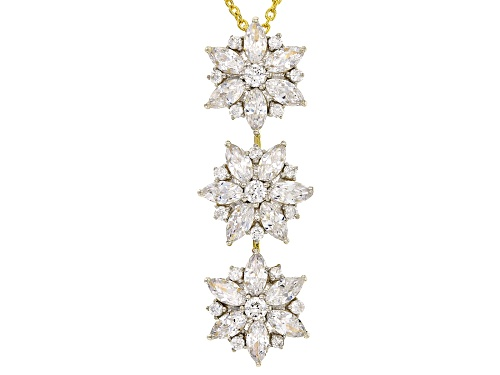 Photo of Bella Luce ® 4.90CTW 18K Yellow Gold Over Silver Floral Pendant With Chain