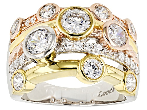Photo of Bella Luce®4.30CTW 18K Yellow Gold, Rose Gold, & Rhodium Over Silver Ring - Size 7