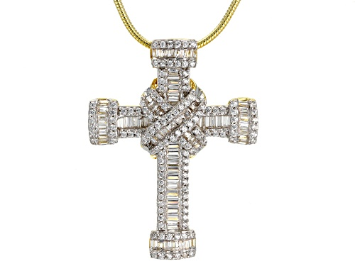 Photo of Bella Luce ® 1.47CTW 18K Yellow Gold Over Silver Cross Pendant W/ Chain