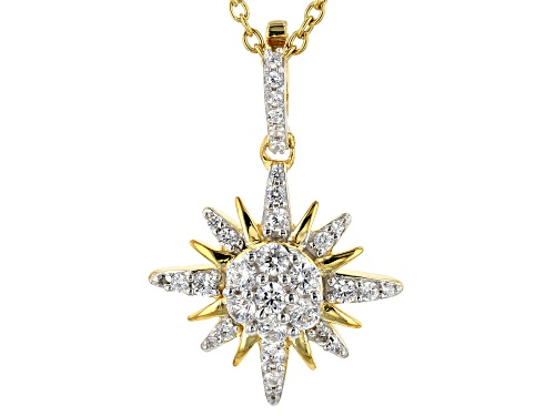 "Photo of Bella Luce®1.44CTW 18K Yellow Gold Over Silver""True North"" Pendant With Chain"